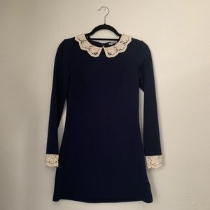 Navy LS Dress SZ Small